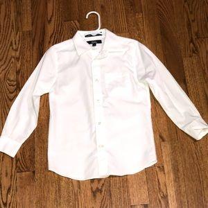 White button down dress shirt size 5